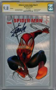 Ultimate Comics Spider-man #1 Foil Variant CGC 9.8 Signature Series Signed Stan Lee comic book